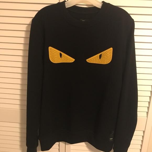 Fendi Black and Yellow Bug Eye Sweater